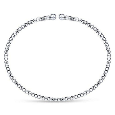 14K White Gold Bujukan Stacking Flexible Bangle Bracelet