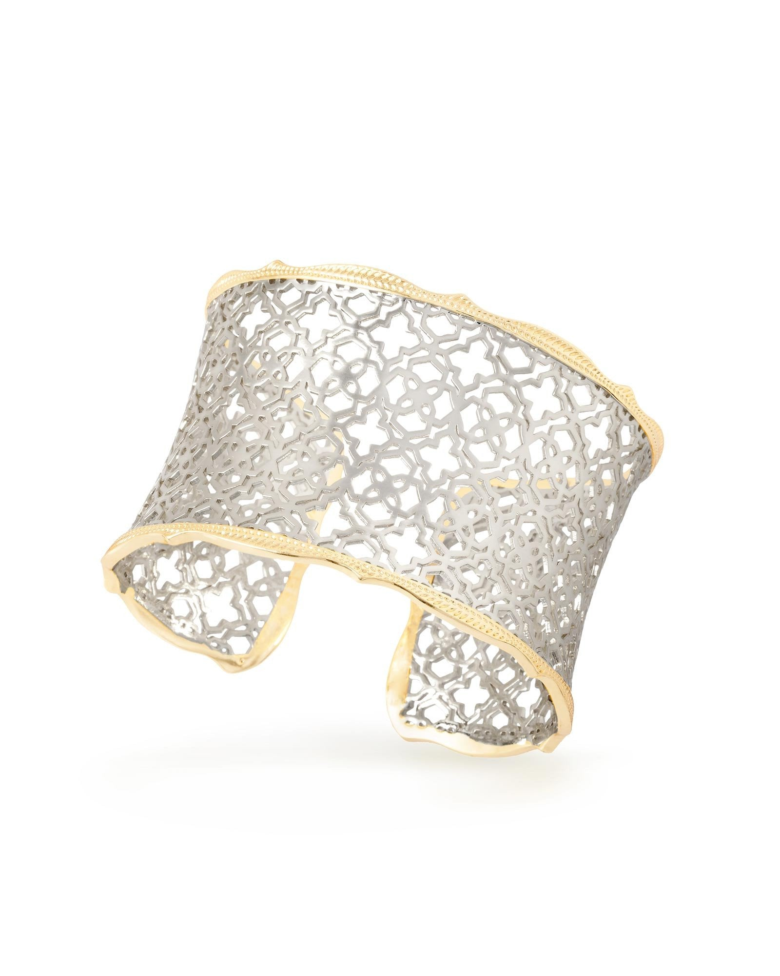 9ccb4d51f82e3 Kendra Scott Candice Gold and Silver Filigree Cuff Bracelet
