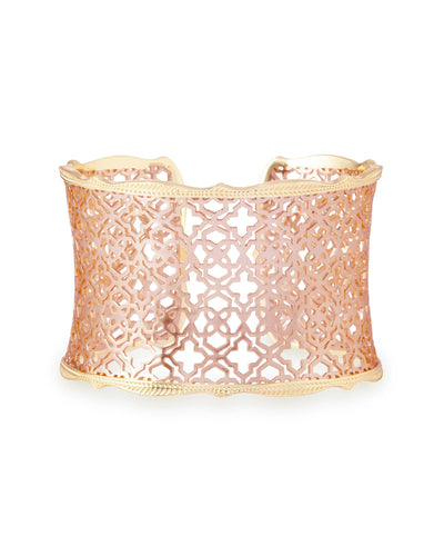 BRACELETS - Kendra Scott Candice Rose And Yellow Gold Filigree Cuff Bracelet