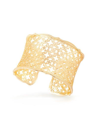 BRACELETS - Kendra Scott Candice Yellow Gold Filigree Cuff Bracelet