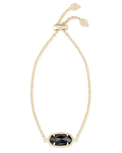 BRACELETS - Kendra Scott Elaina Black And Gold Adjustable Bolo Bracelet