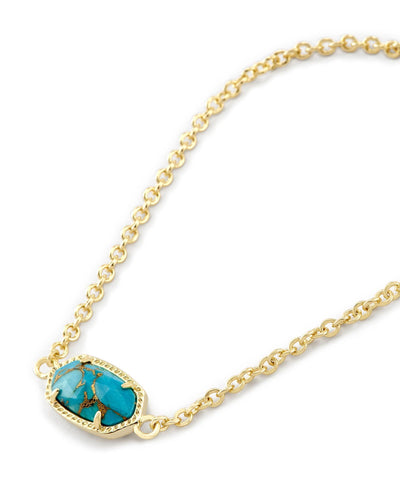 BRACELETS - Kendra Scott Elaina Bronze Veined Turquoise Gold Adjustable Bolo Bracelet