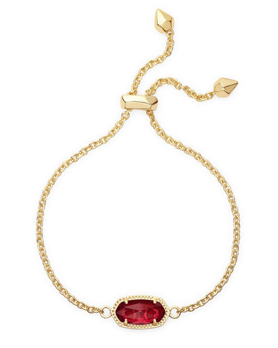 BRACELETS - Kendra Scott Elaina Clear Berry Gold Adjustable Bolo Bracelet