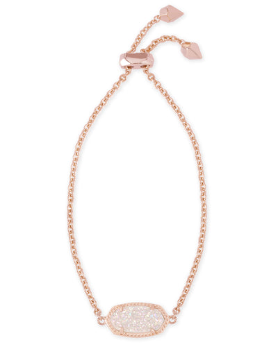 BRACELETS - Kendra Scott Elaina Iridescent Drusy Rose Gold Adjustable Bolo Bracelet