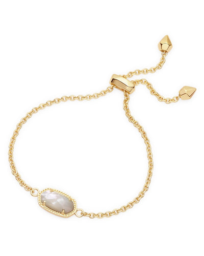 BRACELETS - Kendra Scott Elaina Ivory Mother Of Pearl Gold Adjustable Bolo Bracelet