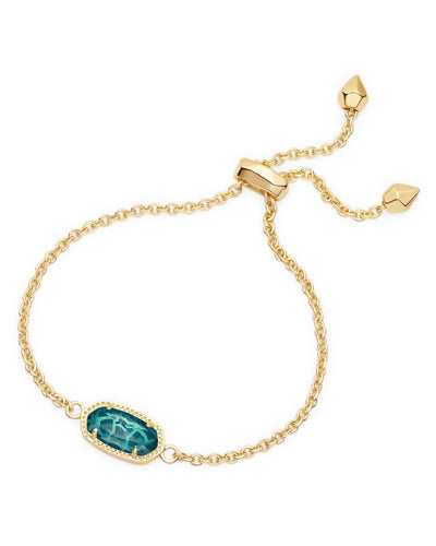BRACELETS - Kendra Scott Elaina London Blue Gold Adjustable Bolo Bracelet