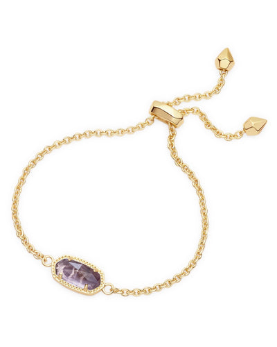 BRACELETS - Kendra Scott Elaina Purple Amethyst Gold Adjustable Bolo Bracelet