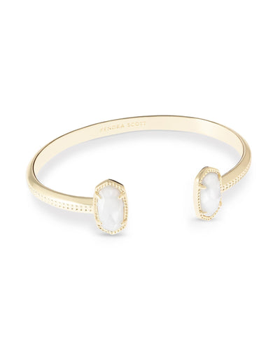 BRACELETS - Kendra Scott Elton Mother Of Pearl Gold Cuff Bracelet