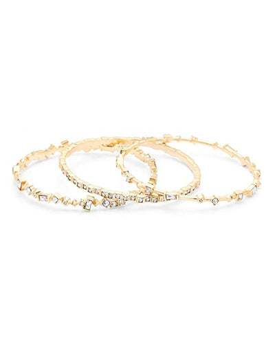 Kendra Scott Malia Yellow Gold Plated Bracelet Set With Assorted CZ's