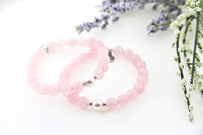 Rose Quartz Bracelet with Pink Pearl Limited Edition Stacker