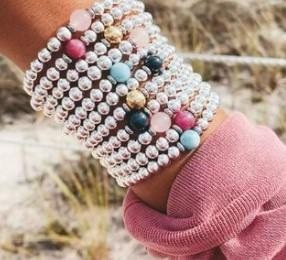 BRACELETS - The Cape Bracelet - Stainless Steel With Sapphire Ball