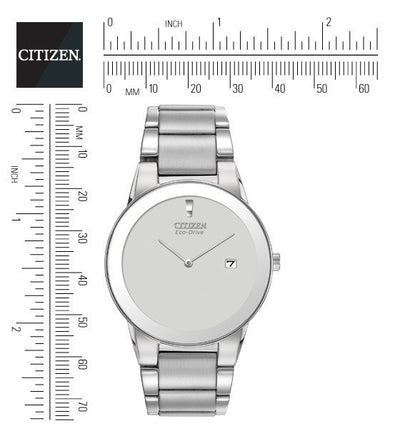 Citizen Eco-Drive Axium Silver Tone Men's Watch