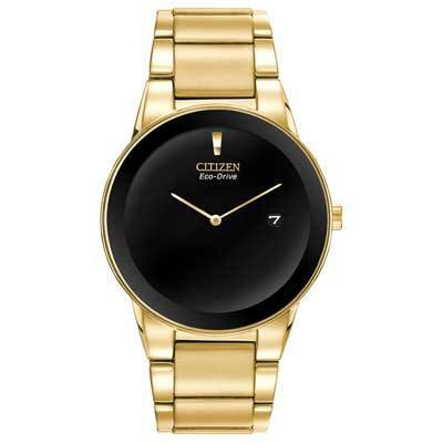 Citizen Eco-Drive Men's Axiom Gold-Tone Stainless Steel Watch