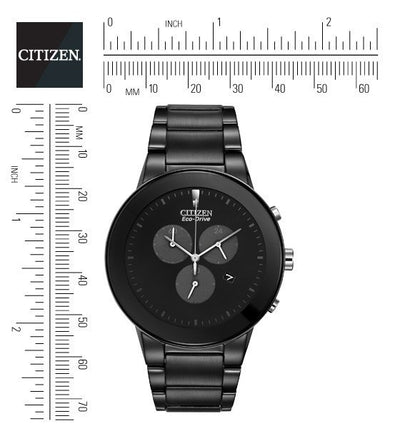 Citizen Eco-Drive Men's Axiom Watch With Blacked Out Case