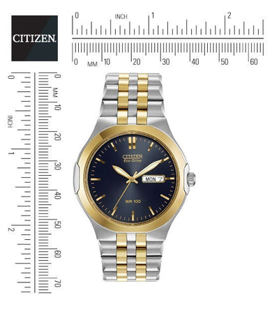 Citizen Eco-Drive Men's Corse Watch With Black Dial