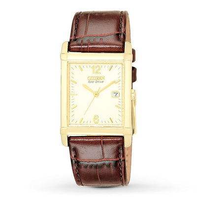 Citizen Eco-Drive Men's Gold-Tone Tank Watch