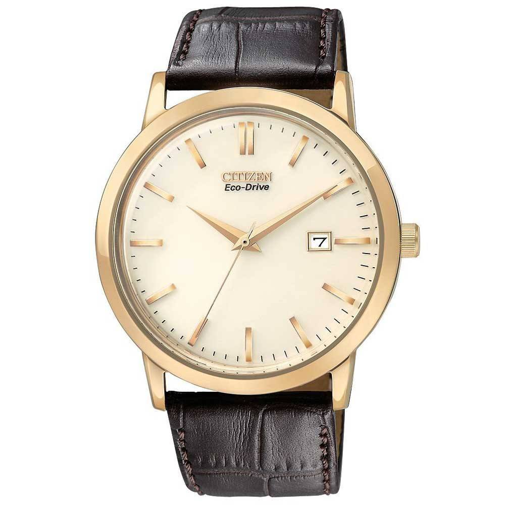 37e254fa1 Citizen Eco-Drive Men's Rose Gold Tone Watch With Brown Leather Strap -  Mullen Jewelers