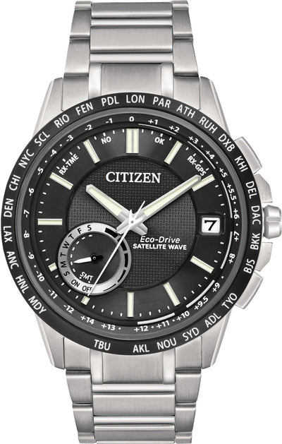 Citizen Eco-Drive Men's Satellite Wave World Time GPS Watch