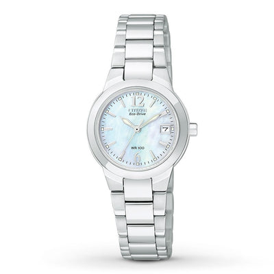 Citizen Eco-Drive Women's Silhouette Silver-Tone Stainless Steel Watch