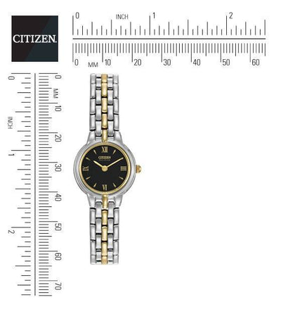 Citizen Eco-Drive Women's Silhouette Two-Tone Watch