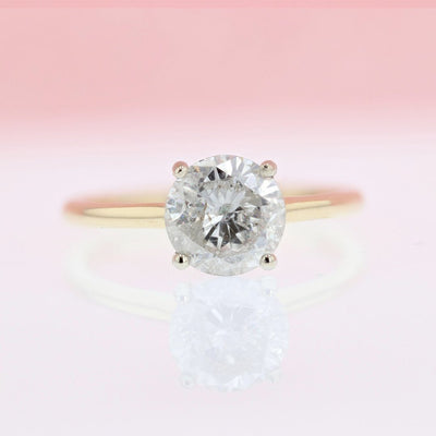 DIAMOND ENGAGEMENT RINGS - 1.75ct Solitaire Round Diamond Engagement Ring
