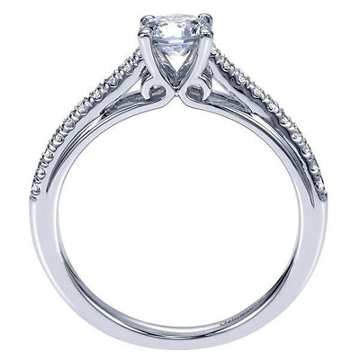 DIAMOND ENGAGEMENT RINGS - 14K 1/2cttw Pave Set Round Trellis Diamond Engagement Ring