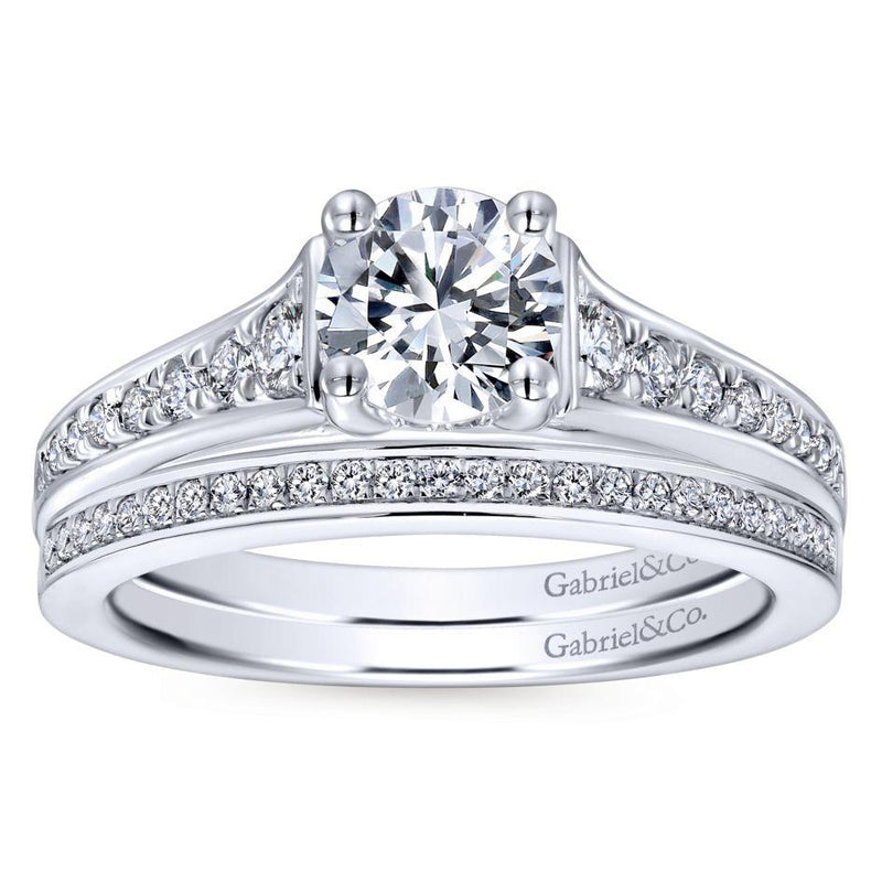 14K White Gold 1.02cttw Clean Tapered Round Diamond