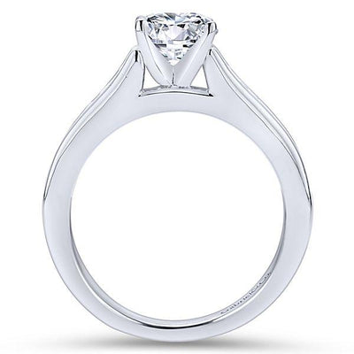 DIAMOND ENGAGEMENT RINGS - 14K White Gold 1.50cttw Graduated Channel Set Round Diamond Engagement Ring