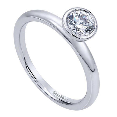 bezel pre products band round thin avant ring cut set solitaire engagement diamond rings garde platinum