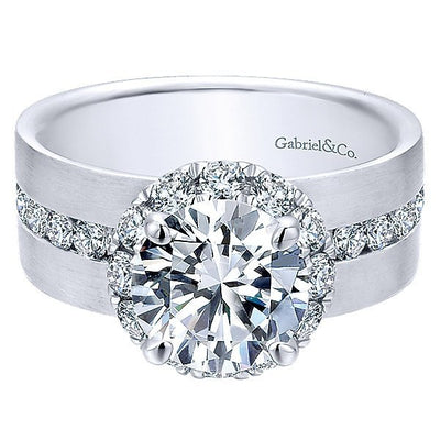 jewellery four gold ring white solitaire engagement in build setting prong classic rings your setmain own diamond
