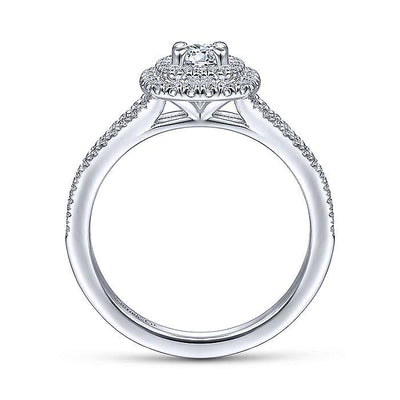 Alice - Cushion Shaped Double Halo 2/3cttw Diamond Engagement Ring