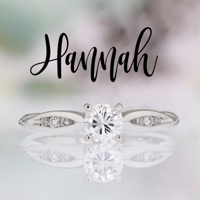 DIAMOND ENGAGEMENT RINGS - Hannah - Petite 1/3cttw Channel Set Round Diamond Engagement Ring