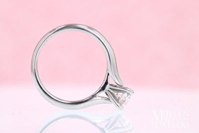 DIAMOND ENGAGEMENT RINGS - Loren - 3/4ct Round Solitaire Diamond Engagement Ring