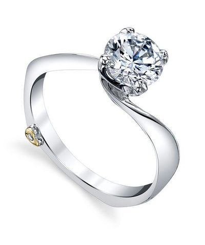 DIAMOND ENGAGEMENT RINGS - Mark Schneider Luna Solitaire Diamond Engagement Ring