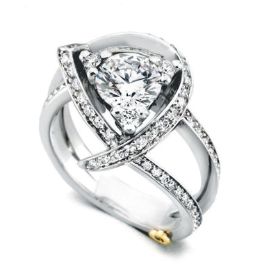 Mark Schneider Luxury Freeform Diamond Engagement Ring Mounting