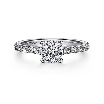 DIAMOND ENGAGEMENT RINGS - Rebecca - Cathedral Pave 2/3cttw Round Diamond Engagement Ring