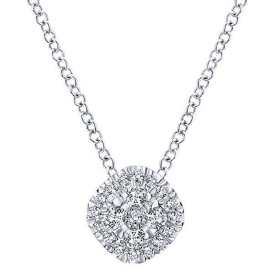 DIAMOND JEWELRY - 1/4cttw Cushion Shaped Diamond Cluster Necklace