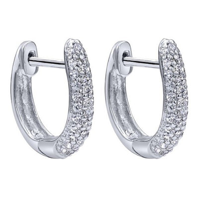 DIAMOND JEWELRY - 1/4cttw Diamond Huggie Earrings In 14K White Gold