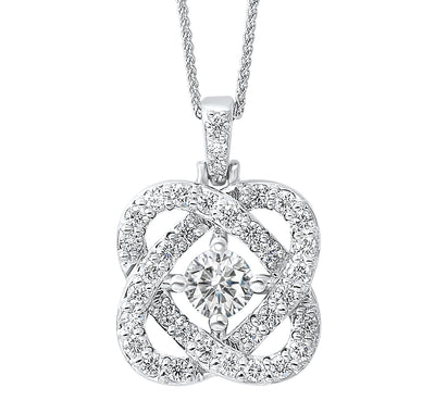 14K White Gold Love's Crossing .50cttw Diamond Necklace