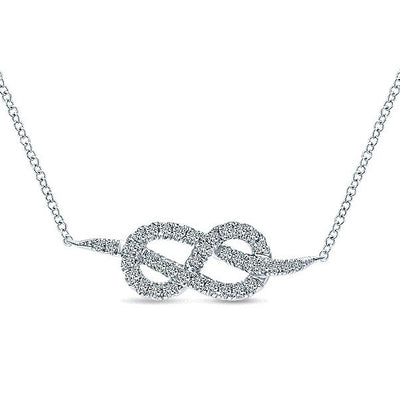 DIAMOND JEWELRY - Pave Diamond Eternal Love Knot Necklace