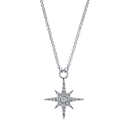 DIAMOND JEWELRY - Starburst Diamond Fashion Necklace
