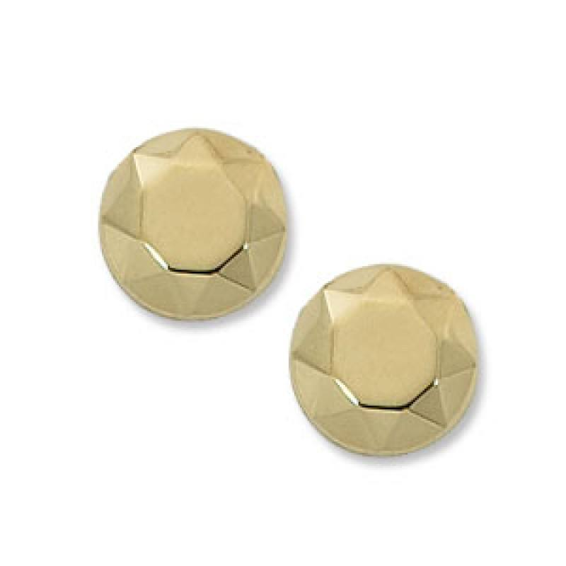 3f110e234 14K yellow gold faceted dome stud earring - Mullen Jewelers