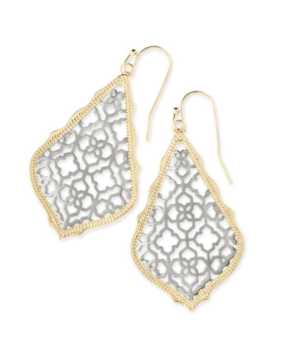 EARRINGS - Kendra Scott Addie Gold And Silver Filigree Drop Earrings