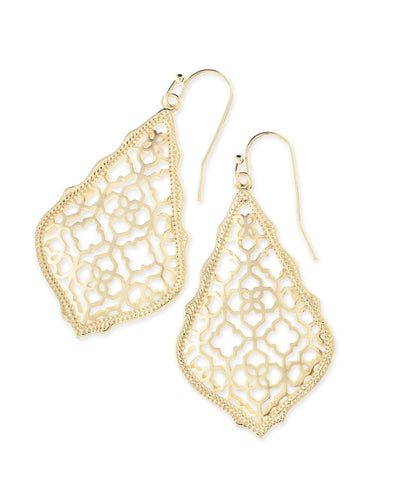 EARRINGS - Kendra Scott Addie Gold Filigree Drop Earrings