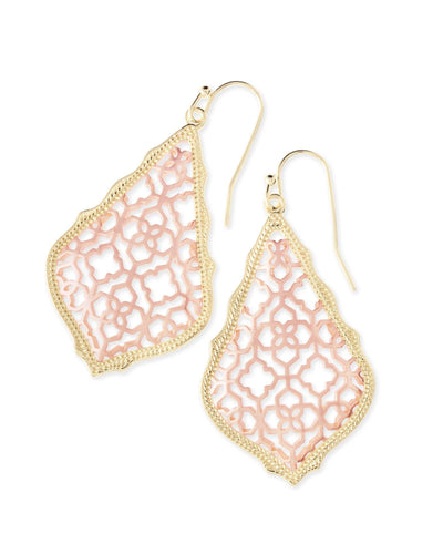 EARRINGS - Kendra Scott Addie Rose And Yellow Gold Filigree Drop Earrings