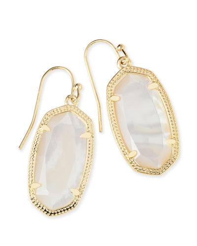 EARRINGS - Kendra Scott Dani Ivory Mother Of Pearl Gold Drop Earrings