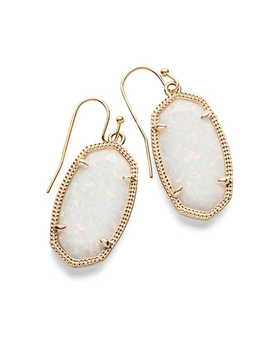EARRINGS - Kendra Scott Dani White Kyocera Opal Gold Earrings