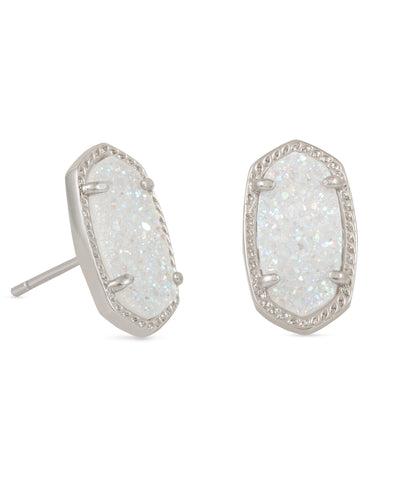 EARRINGS - Kendra Scott Ellie Iridescent Drusy Silver Earrings