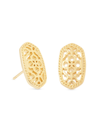EARRINGS - Kendra Scott Ellie Yellow Gold Filigree Earrings