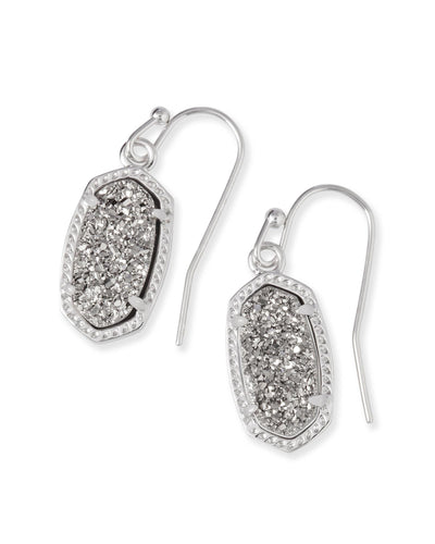 EARRINGS - Kendra Scott Lee Platinum Drusy Silver Drop Earrings